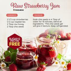 Strawberry Jam, Raspberry, Raw Honey, Chia Seeds, Health, Health Care, Raspberries, Salud