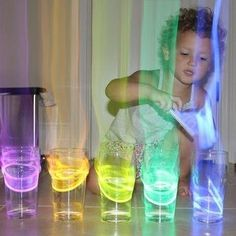 Glow sticks in glasses of water.  When you tap on the glasses, the vibration causes the color to rise out of the glass.  Does this actually work??