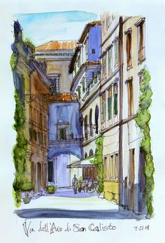 Chris' Sketches | Study Rome 2014