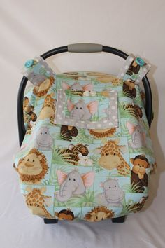 Fitted Winter Car Seat Canopy with Peek-a-boo by ForSophieDesigns & Fitted Car Seat Canopy with Peek-a-boo Window by ForSophieDesigns ...