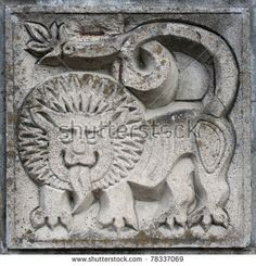 stock-photo-old-bas-relief-of-fairytale-fantasy-lion-on-the-wall-78337069.jpg (450×469)