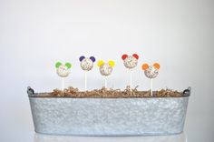 Mickey Mouse Clubhouse Cake Pops Sugar Bee Sweets Bakery www.sugarbeesweets.com