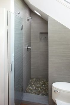 Shower stall - modern - bathroom - san francisco - Mueller Nicholls Cabinets and Construction