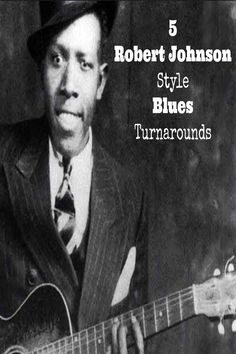 Robert Johnson's blues chops and turnarounds are a really nice asset to your blues vocabulary. Memorize these 5 turnarounds so you can take them out of your back pocket and put them into use whenever you need to play a 12 bar blues! Guitar Chords And Lyrics, Guitar Tabs Songs, Guitar Chords Beginner, Jazz Guitar, Guitar Solo, Music Guitar, Playing Guitar, Music Theory Lessons, Blues Guitar Lessons