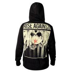 Check out Rise Against HIO Thumbhole Zip Hoodie on @Merchbar