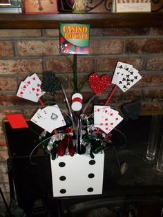 Do it yourself casino night decor came up with some ideas for casino night table centerpieces solutioingenieria Choice Image