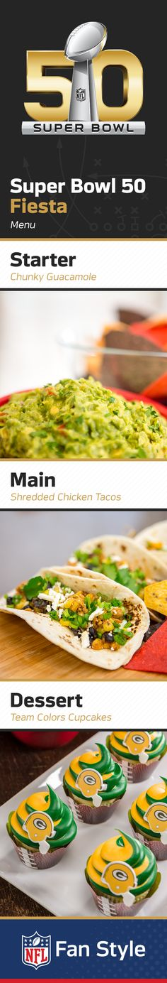 What better day to hold a Homegating fiesta than on Super Bowl 50? Serve up homemade guacamole for a Super Bowl snack, and some chicken tacos for the main attraction! Click through to discover our favorite recipes for Super Bowl Sunday.