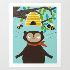 Honey! Art Print by Jenny Tiffany - $18.00