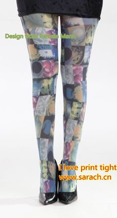 Design from UK, I love print  tights www.sarach.cn