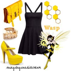 Wasp by rainydaysandicecream on Polyvore