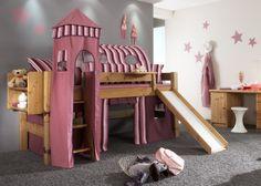 Dětská patrová postel se skluzavkou Hvězda - 1