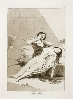 "Francisco de Goya: ""Tantalo"". Serie ""Los caprichos"" [9]. Etching and aquatint on paper, 205 x 149 mm , 1797-99. Museo Nacional del Prado, Madrid, Spain"