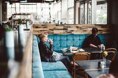 corner bench seating cafe - Google Search