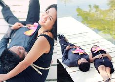 When Ice and Aman were in Cebu for a vacation, we met up with them for a quick engagement session and had an amazing time with these two! Here are some of their photos taken at Plantation Bay Resort.    Plantation Bay Resort Cebu E-Session - Ice and Aman  Location: Plantation Bay Resort and Spa  HMUA: Joseph Agbay