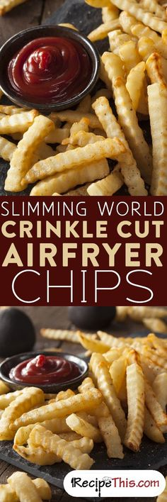 Slimming World Crinkle Cut Airfryer Chips From RecipeThis.com