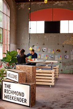 The Richmond Weekender, Melbourne. Distressed eclectic warehouse design.