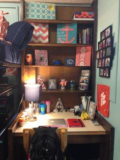 Brain blast - bringing my old headboard to school for behind my desk. #organization