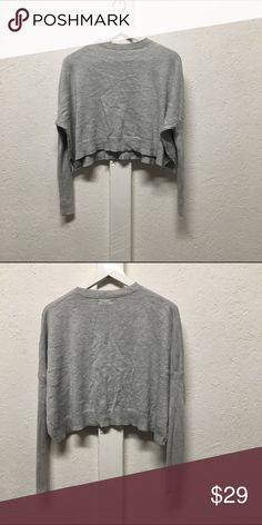 Urban outfitter solid crop Mock neck Urban outfitters grey crop top with mock neck offers accepted Urban Outfitters Tops Crop Tops