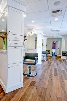 white island salon styling stations
