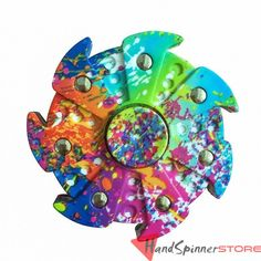 Multicolor Painting Spiral Hand Fidget Spinner Toy Finger Gyro Torqbar EDC Sensory for Autism and ADHD Kids/Adult Funny Anti Stress Toy