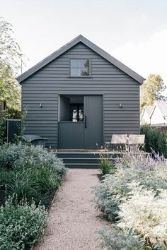 Exterior Paint, Exterior Design, Grange Restaurant, Black Shed, Weatherboard House, Modern Barn House, Shed Homes, Garden Studio, House Painting