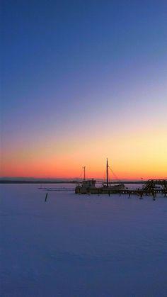 Inkoo, Jan 16th 2016. #inkoo #ingå #satama #hamn #harbour #pier #laituri #landscape #seascape #sunset #auringonlasku #samsunggalaxys4active