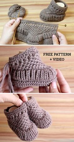 Freie strickmuster knitting patterns knit warm baby booties free knitting pattern + video knitting pattern baby booties free freiestrickmuster knit knitting pattern patterns video warm how to knit fruit citrus slices with free pattern + video Baby Booties Knitting Pattern, Crochet Baby Booties, Knit Crochet, Free Crochet, Knitted Baby Boots, Knit Baby Shoes, Knitted Booties, Crochet Socks, Knit For Baby
