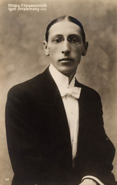 Igor Stravinsky;  considered by many to be one of the most influential composers of the 20th century, his works include the famous ballets Petrushka, The Rite of Spring and The Firebird.