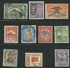 Ceylon stamps collection of 10