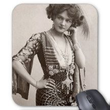Vintage Gypsy Lady Mouse Pad