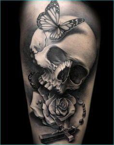Skull Designed Demon Tattoo 7