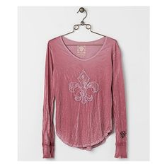 Velvet Stone Diamond Vail T-Shirt ($65) ❤ liked on Polyvore featuring tops, t-shirts, pink, diamond tees, velvet t shirts, print tees, crinkle top and diamond t shirt