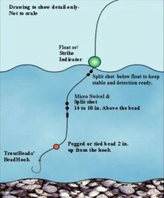 Diagram on How to Attach Pegged Egg Troutbeads to Your Line… What is a Peg Egg Rig? A peg egg rig uses a bead with shape and color fixed … Pegged Egg Rigging Read Trout Fishing Tips, Fishing Rigs, Fishing Knots, Fishing Humor, Carp Fishing, Fishing Stuff, Ice Fishing, Fishing Tackle, Walleye Fishing