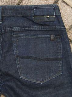 Buffalo Bdb Mens Driven Classic Straight Blue Black Denim Jeans 34 X 32 Euc - Jeans