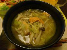茸と鮭のお味噌汁
