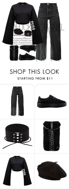 """• puma gyal •"" by fuckedchanel ❤ liked on Polyvore featuring RE/DONE and Puma"