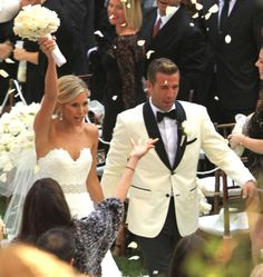 Jason Wahler married Ashley Slack at Calamigos Ranch in Malibu on October 12, 2013.