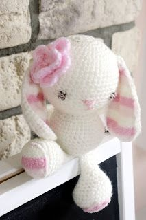 my first crochet bunny - especially for my little doughter