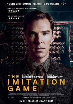 "The Imitation Game (UK/USA: Morten Tyldum, 114 mins) Cohen, Josh. "" The Imitation Game and the complicated byproducts of adapta. Alan Turing, Good Movies To Watch, Great Movies, Amazing Movies, Benedict Cumberbatch, The Imitation Game Movie, Love Movie, Movie Tv, Movies Showing"