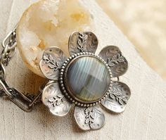 Eye Catching Labradorite in Silver Bracelet with by EONDesign
