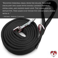 What does our friend Michael has to say about our black reflective leash? Click the link in our bio to get yours.🐶😃😍👍❤️ #leash #dogleashes #dogs #dogstagram #dogsofinstagram #puppiesofinstagram #puppystagrams #puppycraze #puppies #petsloversclub #instadog #instadogs #love #dogphotography#petsloversclub #petstagram #dailydog #dogoftheday