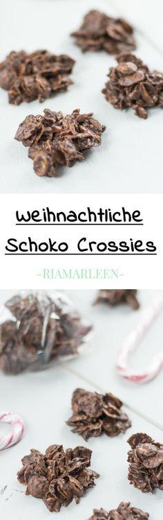 #Geschenk #Weihnachten weihnachtliche Schoko Crossies selber machen - schönes, günstiges Weihnachtsgeschenk für Freunde oder Familie ... DIY Weihnachten, Leckereien aus der Küche, Weihnachtssnack