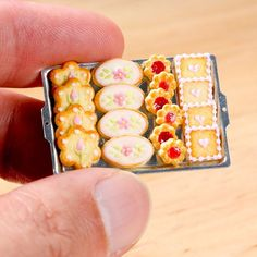 Miniature butter cookies handmade in 12th scale from polymer clay | by Paris Miniatures
