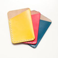 Leather Card Slip  Holds up to 6 Cards. by JosephHenryWorkshop, $40.00 Hold Ups, Card Holder, Wallet, Trending Outfits, Unique Jewelry, Handmade Gifts, How To Make, Cards, Leather