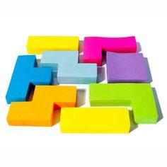 Tetris block sticky note pads