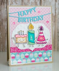 Cards by Kerri: Taylored Expressions September Sneak Peeks: Party Pals and Wishes on a Wire-Birthday!