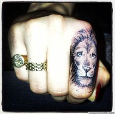 Cara Delevinge's Lion Tattoo! That's dope!