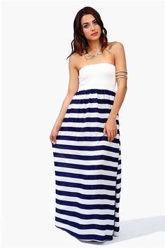 i'd like a striped strapless maxi for every day until october, please!!