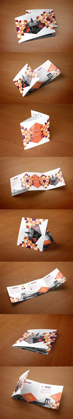 Square Modern Red Pattern Trifold. Download here…