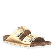 Birkenstock® for J.Crew metallic Arizona sandals